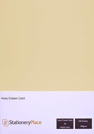 Amazon.com: Papelería lugar tarjeta de marfil/crema 160 g/m2 ...