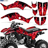honda 400 ex stickers - Honda TRX400EX 1999-2007 Graphic Kit ATV Quad Decal Sticker TRX 400 EX FLAMES RED