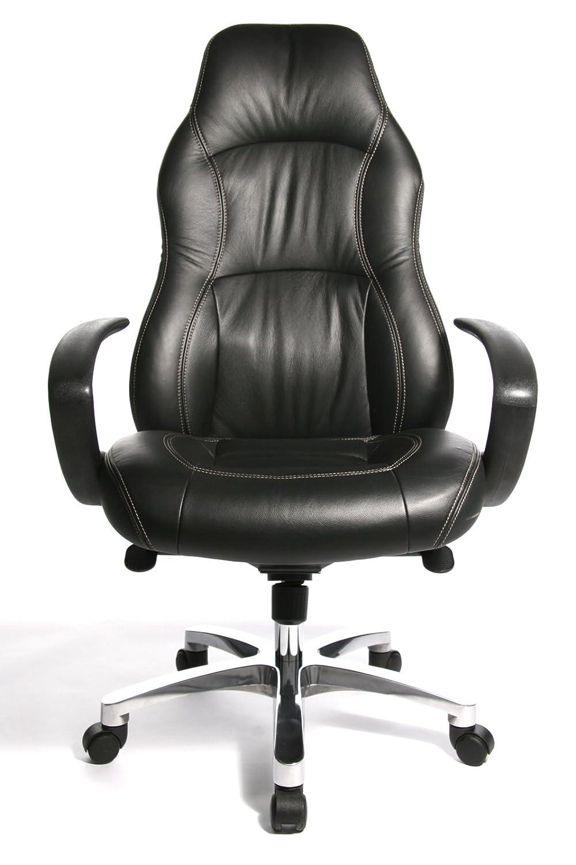 schwarz Bezug Leder Topstar RS90F AD0 RS1 Komfort Chefsessel