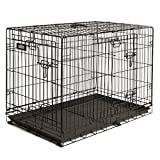 Pet Sentinel Metal Foldable Pet Crate, Large