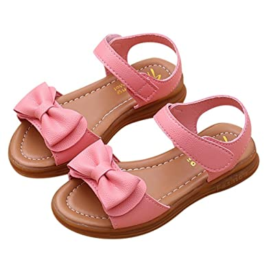 c3159363ef7d8 Leedford Princess Sandals,Baby Girls Kids Bowknot Princess Sandals Soft  Sole First Walker Crib Shoes Princess Casual Shoes