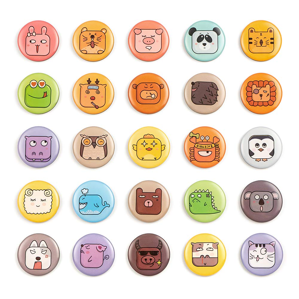 Fridge Magnets 25pcs Emoji Magnets Cartoon 3D Lock Fridge Magnets Suitable for Kitchen Office Whiteboard Adults Kids Toys Holiday Gifts