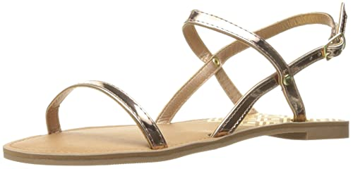 f5ebfec2e Qupid Women s Athena-1001ax Flat Sandal Rose Gold 5.5 ...