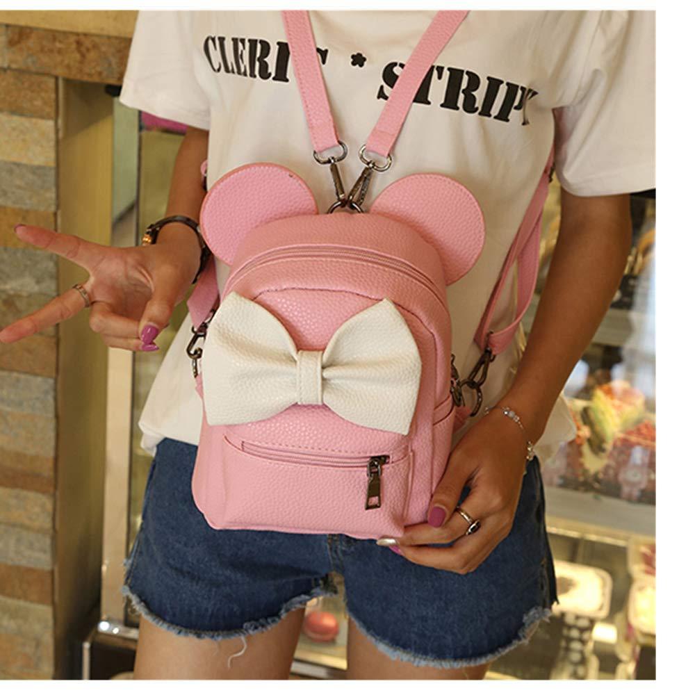 Ourhomer  Clearance Sale Wallet Purse New Mickey Backpack Female Mini Bag Women's Backpack (Pink)