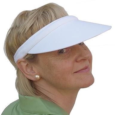 Ladies   Mens Unisex Push on Golf   Tennis Sun Visor in White ... dbddc50ce8a