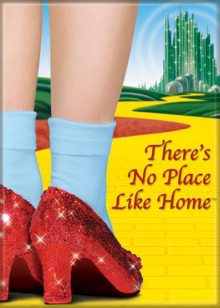 """Ata-Boy Wizard of Oz 'There's No Place Like Home' 2.5"""" x 3.5"""" Magnet for Refrigerators and Lockers"""
