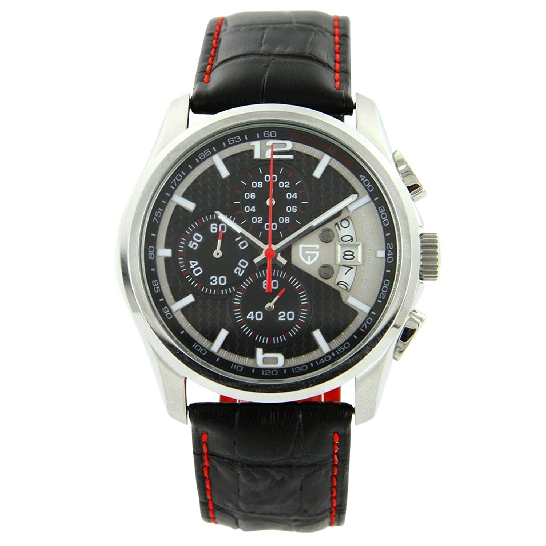 PAGANI Uhren Herren – Jolie de Luxe Herrenuhr Chronograph Leder Schwarz Pagani 2598