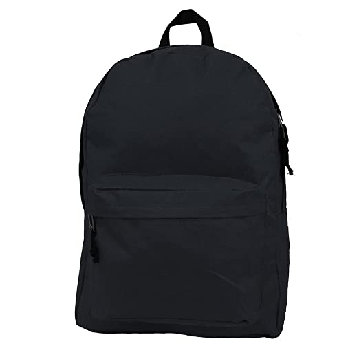 ec6352f03428 Basic Backpack Classic Bookbag Simple School Book Bag Casual Student Daily Daypack  18 Inch with Curved