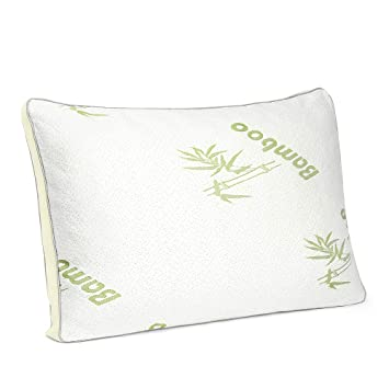 Oakome Bamboo Memory Foam Pillow Hypoallergenic Bed Pillow With