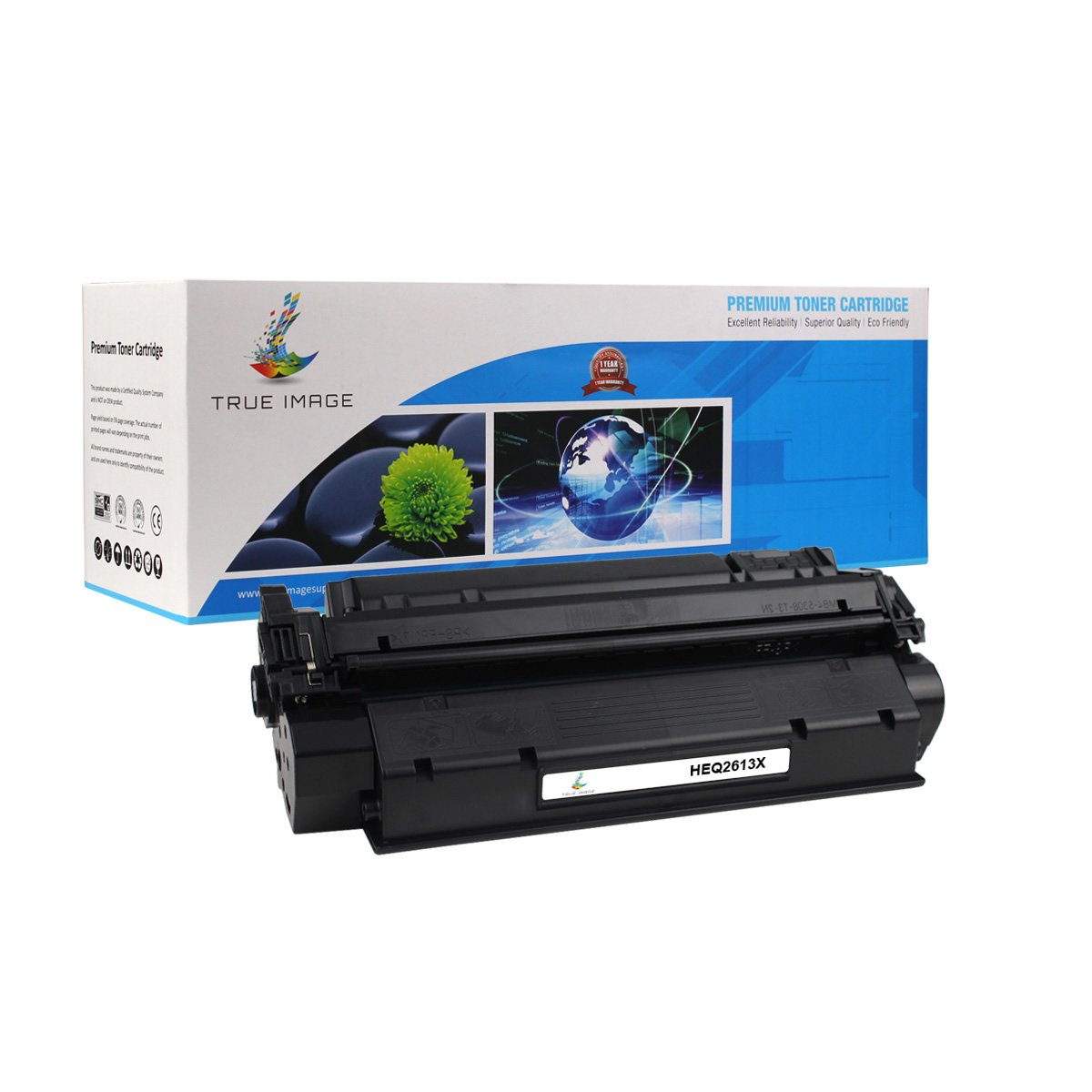 True Image Compatible Q2613X Q2613A 13A 13X Toner Cartridge Ink laserjet 1300 Toner for Laserjet 1300 1300N 1300XI Printer (Black, 1 Pack)