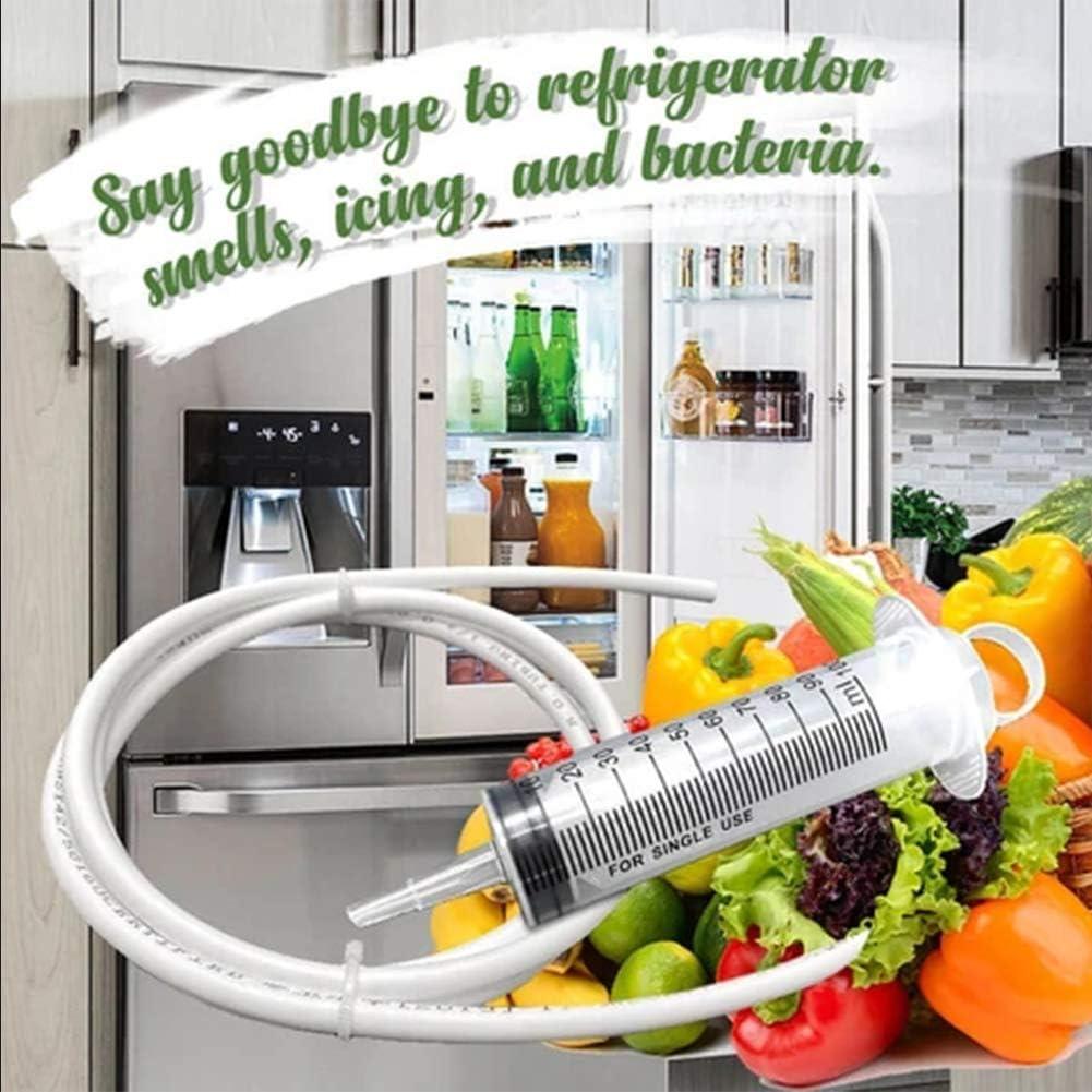 1PC K/ühlschrankablassloch-Verstopfungsentferner K/ühlschrankreinigungswerkzeuge Haushaltsreinigung zum Reinigen des Abflusslochs des K/ühlschranks