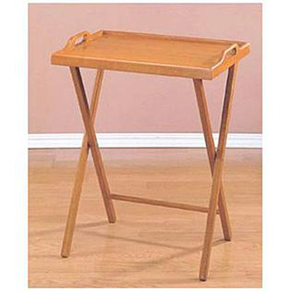 Amazon.com: CCS 20x14.25x25 Inch Wooden Folding Table: Kitchen U0026 Dining