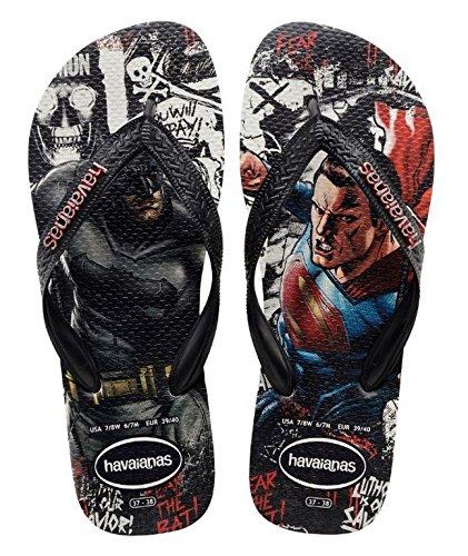 Havaianas Batman V Superman, Chanclas Estampadas Hombre, Multicolor (White/Black 0128), 39/40 EU (37/38 Brazilian)