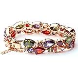 La Vivacita 18ct Rose Gold Plated Luxury Eternal Bracelet Swarovski crystals Small to large size
