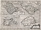 World Atlas Map, Anglesey; Wight Vectis olim ; Garnesay ; Iarsay 1636 | Historic Antique Vintage Map Reprint
