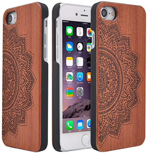 Wood Case Unique Natural Handmade Non Slip Wooden Cover Cases Sunflower Christmas...