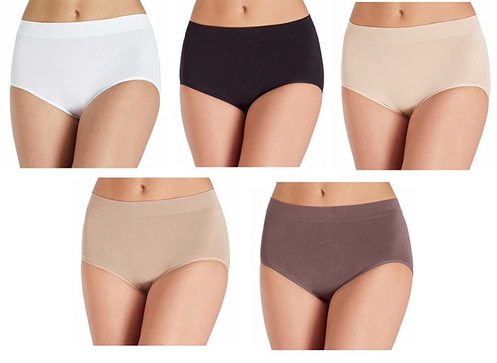 7d7bc6369 Pack includes (5) separate High Quality Semales Brief Silky soft. Full  coverage. Stays in place. Hip measurements (in)   S   35-36