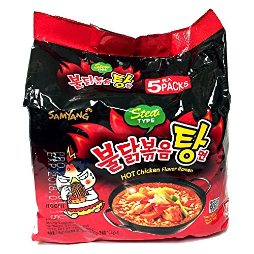 Price comparison product image Korean Samyang HOT SPICY Noodle Fire Chicken Flavor Challenge Ramen Stew Type 5 Pack Buldak Bokkeum Tang Myun