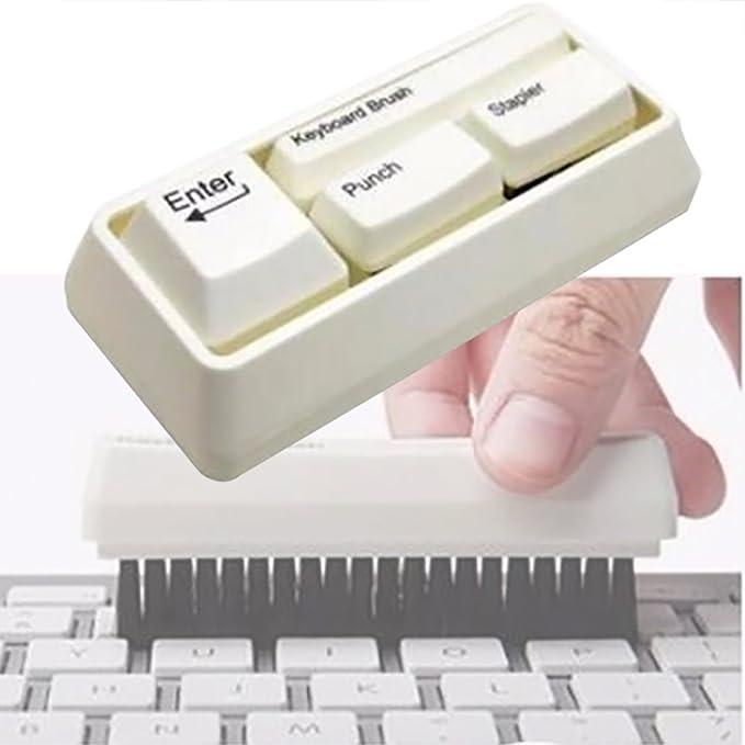 Fan Shop Outgeek Mini Stapler Set Desk Stationery Set Small Stapler with Keyboard Brush Clip Absorber and Puncher Staplers