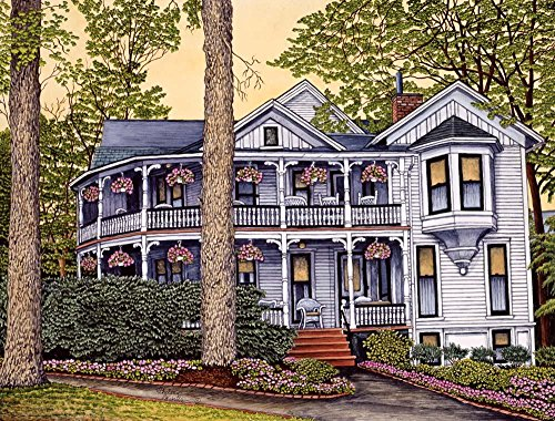 Wallmonkeys Russell Schall Cottage Wall Mural by Thelma Winter (60 in W x 46 in H) WM94441