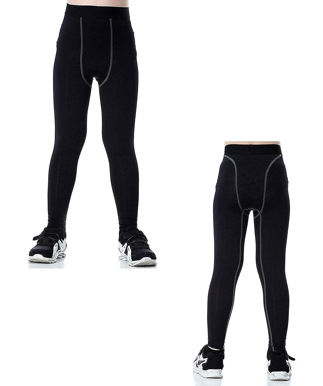 Boys Long Underwear Set Skin Base Layer Tops and Bottom Moisture Wicking