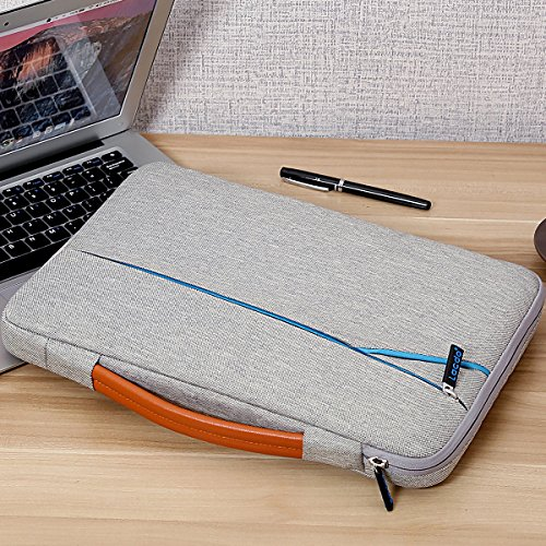 "Lacdo 360° Protective 13.3"" Laptop Sleeve Case Computer Bag for Older 13 Inch MacBook Air A1466 MacBook Pro 2012-2015/13.5 Microsoft Surface Book 2, Laptop 3, 2/13"" Asus HP Dell Acer Lenovo, Gray"