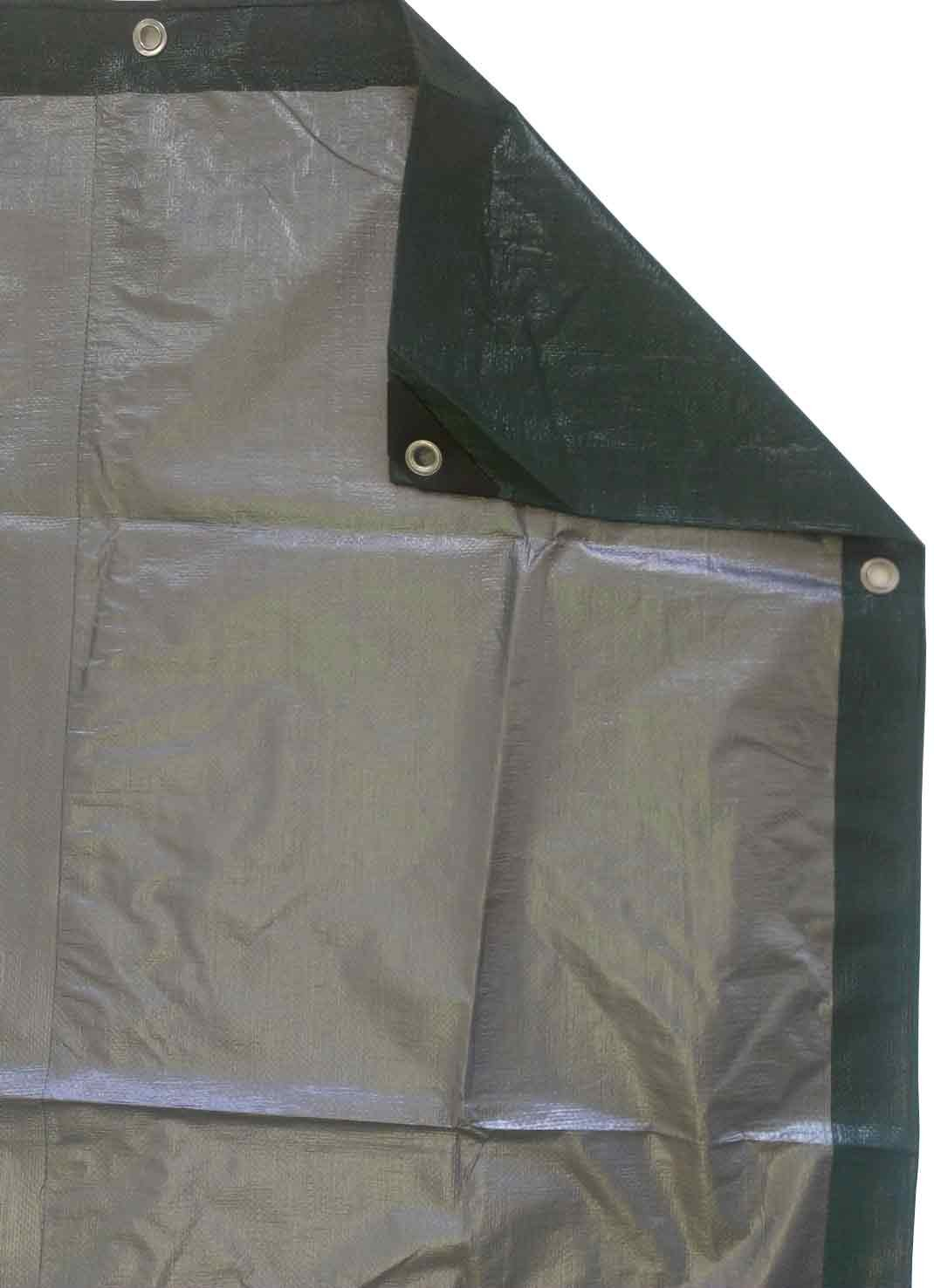 Item Kotap 30-ft x 50-ft Heavy-Duty 12 by 12 Cross Weave 8-mil Reversible Green//Silver Poly Tarp TGS-3050 Kotap America Ltd.
