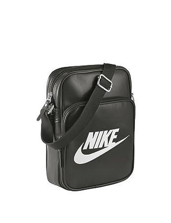 081daa4120 Nike Heritage II Bag black Deep Pewter Deep Pewter White  Amazon.co ...