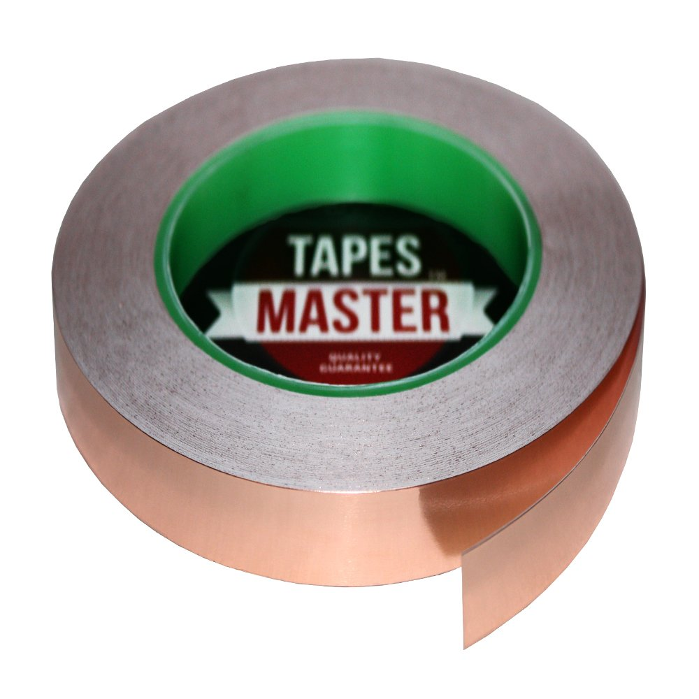 Cinta de Cobre 12mm x 33mt Adhesivo Conductor TAPES MASTER