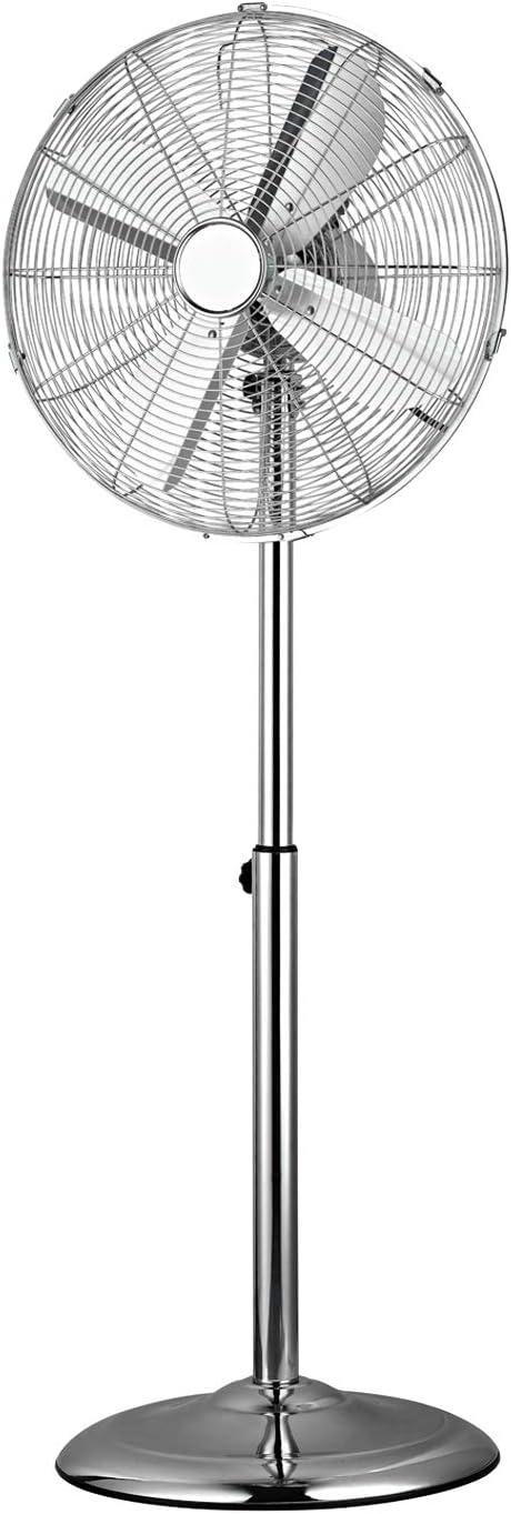 Ventilador de lujo de metal con pie – 40 cm – 50 W – 1,25 m de altura – 3 velocidades