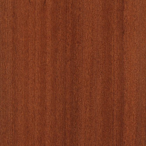 Sapele Wood Veneer Qtr Cut Ribbon 4x8 10 mil(Paperback) Sheet by Wood-All