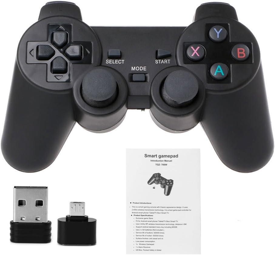 jimtw-fr 2.4 G Gamepad Inalámbrico Gamepad + Micro USB OTG adaptador para ps3 Android Phone TV Box (# 026): Amazon.es: Iluminación
