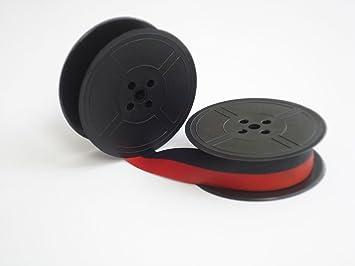 Mercedes de máquina de escribir antigua carrete de cinta de tinta estándar de monitores de eléctrico negro y rojo: Amazon.es: Oficina y papelería