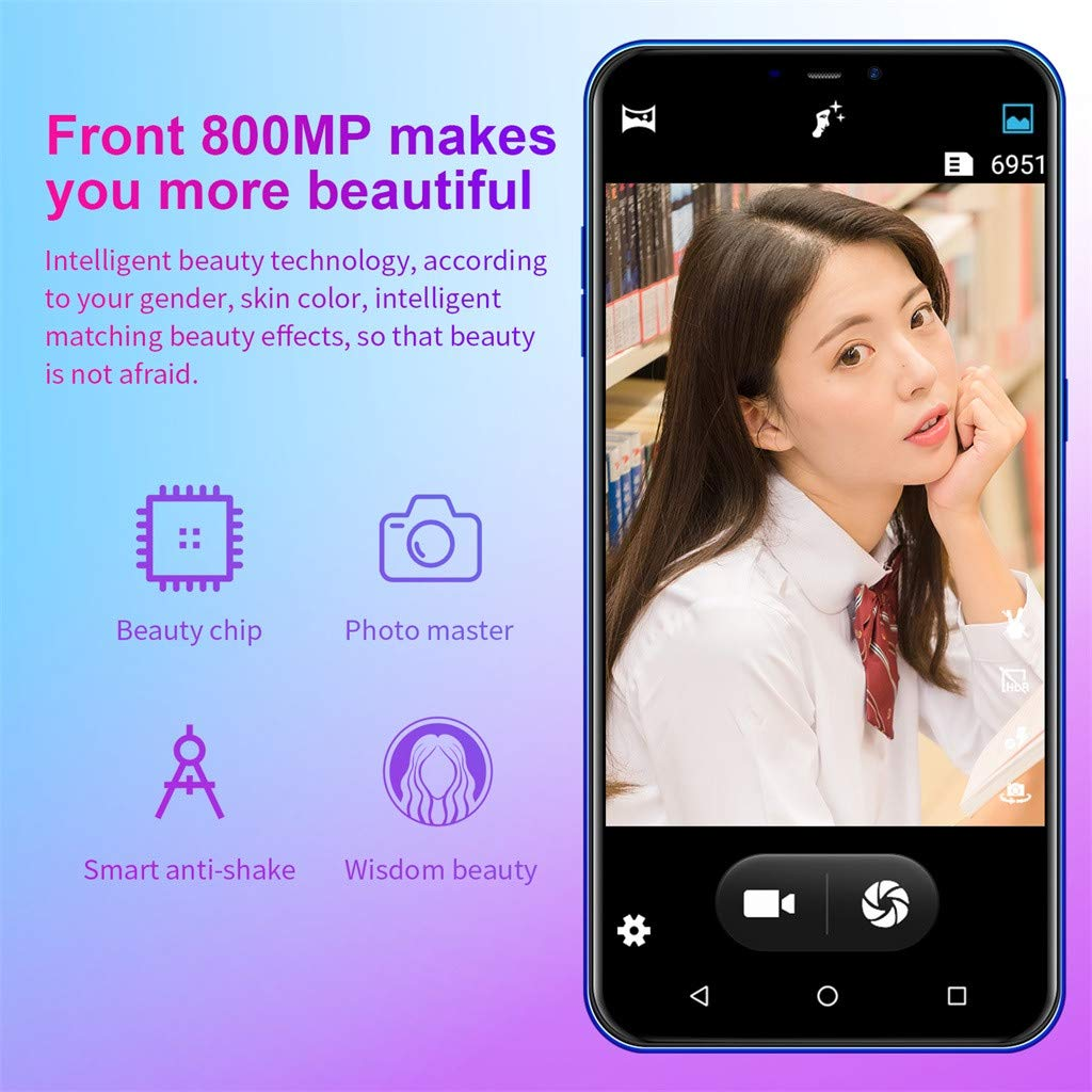 NDGDA Eight Core 6.3 inch Dual HD Camera Smartphone Android 8.1 16GB Touch Screen WiFi Bluetooth GPS 3G Call Mobile Phone (Blue) by NDGDA Smart Phone (Image #5)
