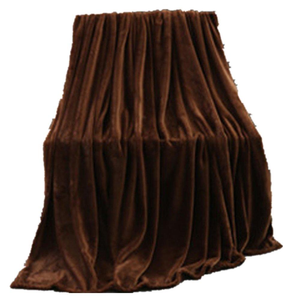 Digood_blanket Toddler Fleece Flannel Soft Warm Micro Plush Blanket Throw Rug Sofa Bedding (Coffee, 70x100CM)