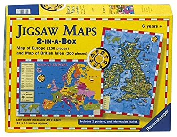 Ravensburger puzzle uk and europe maps 2 puzzles in a box ravensburger puzzle uk and europe maps 2 puzzles in a box gumiabroncs Image collections