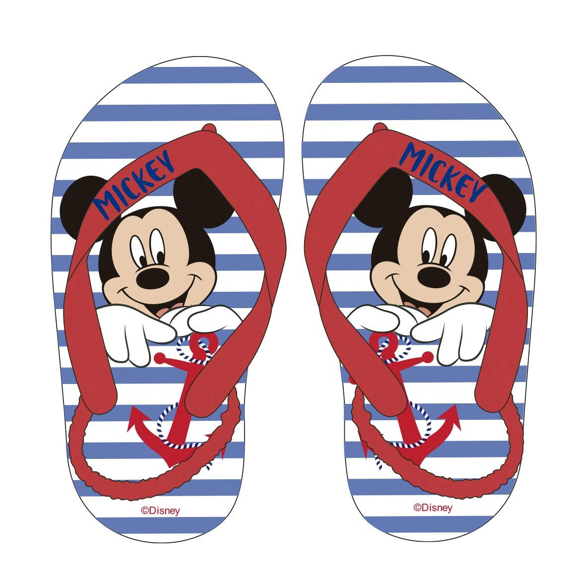 Disney Mickey Mouse Baby//Toddler Boys Flip Flop Sandals with Strap