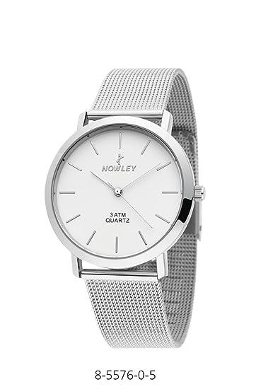 Reloj analógico para hombre marca Nowley, con correa en acero de malla en acero inoxidable: Amazon.es: Relojes