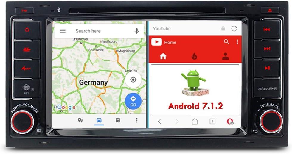 A de Sure Android 7.1.2 Auto Radio DVD GPS navegación MirrorLink ...