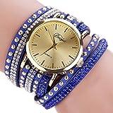 Scpink Reloj de Pulsera para Mujer, Tachonado de Moda Reloj de Diamante Completo Dial Grande Aleación Reloj de Cuarzo…