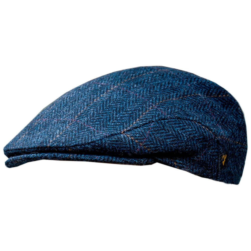 Men's Donegal Tweed Flat Cap - Traditional style, Modern fashion item - Blue