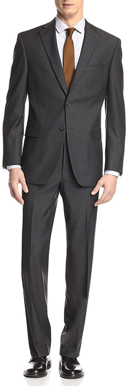 GN GIORGIO NAPOLI Presidential Men's Suit Two Button 2 Piece Modern Classic Fit