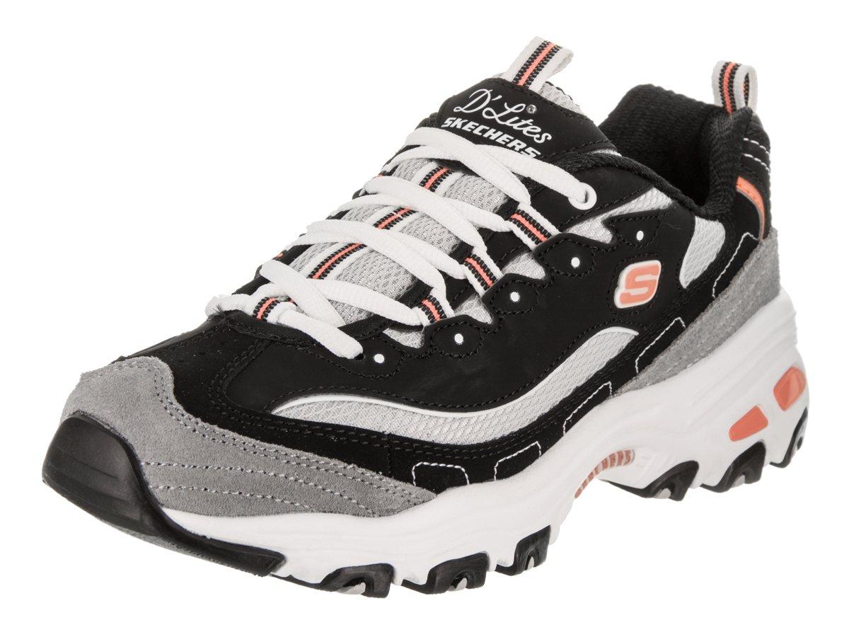 Skechers Women's D'Lites-New Journey Sneaker B01MRJ0JAC 5.5 B(M) US|Black/White/Grey