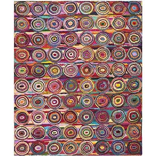 Traditional Kids Rug - Nantucket Cotton Pile -Pink/Multi Style-C Pink/Multi/Traditional Kids/12'L x 9'W/Large Rectangle