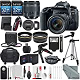 Canon EOS Rebel 77D DSLR Camera with EF-S 18-55mm f/4-5.6 IS Lens and 2 X 32GB, 58mm Telephoto & Wide-Angle Lens, Filters, Tripods, Flash, Remote, Xpix Lens Accessories