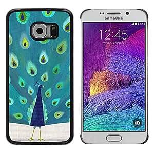 Paccase / SLIM PC / Aliminium Casa Carcasa Funda Case Cover - Feathers Bird Africa Majestic - Samsung Galaxy S6 EDGE SM-G925