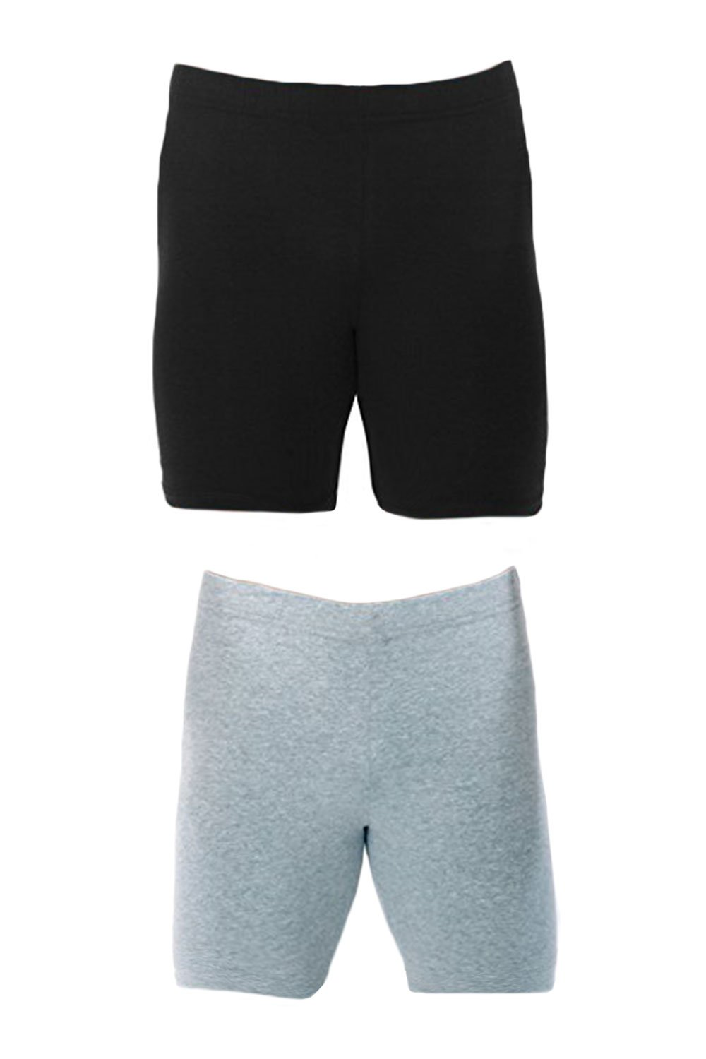 Men's Extreme Core-Champion True Double Dry Compression Short (Small, 2 Pack Grey/Black)