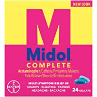 Midol Complete Menstrual Pain Relief Gelcaps with Acetaminophen for Menstrual Symptom...