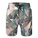 LUASD Men's Fauves Of Africa Quick Drying Breathable Beach Pants Swim Trunks Large