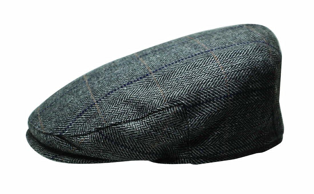 The Quiet Man Irish Designed Grey Tartan Designed Flat Cap